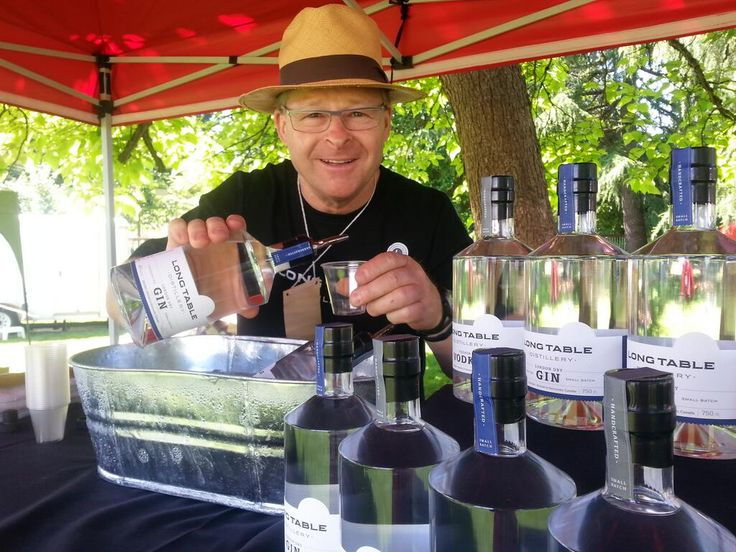 Locally distilled vodka and gin from Long Table Distillery.