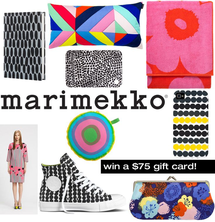 We're giving away a $75 Marimekko Gift Card to use at any US Marimekko retail store or US Marimekko outlet, or online at www.marimekko.com.