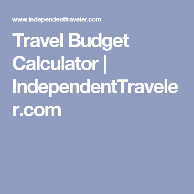 trip budget calculator