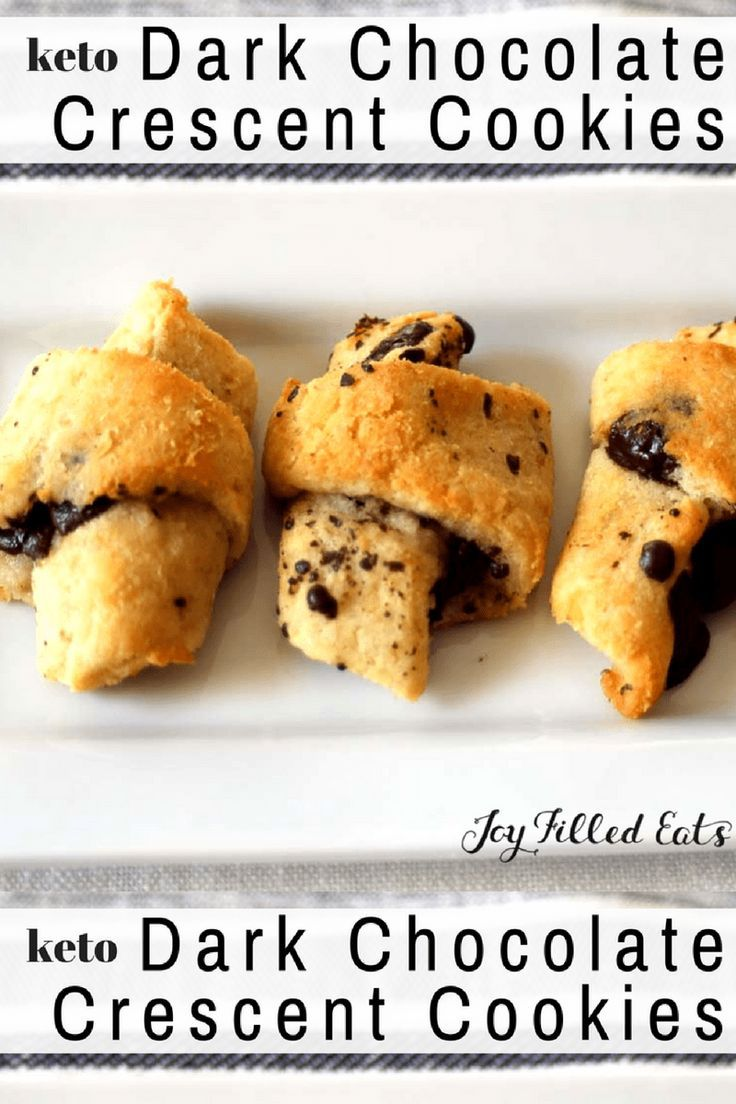 Dark Chocolate Crescent Cookies Low Carb Grain Free Gluten