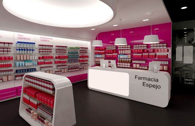 Pharmacy Design | Retail Design | Store Design | Pharmacy Shelving | Pharmacy Furniture | Farmacia Espejo – Adra