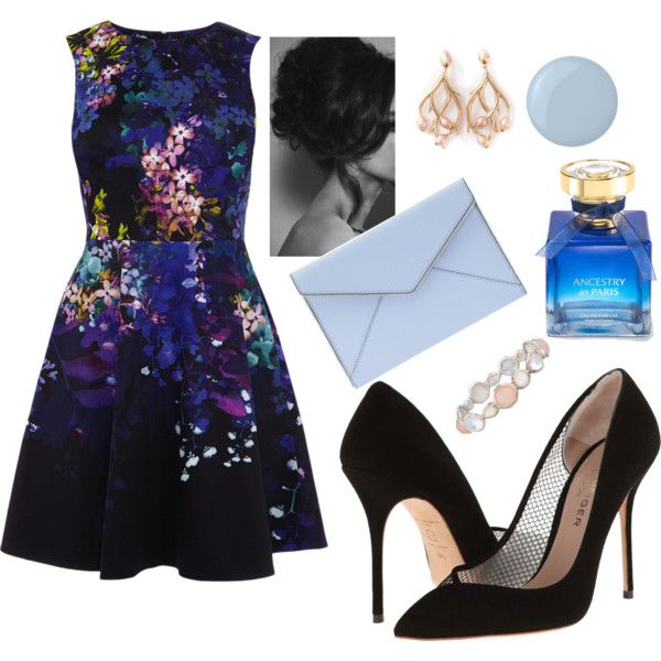 Cocktail Party in Flower Dress by veradediamant on Polyvore featuring polyvore, moda, style, Kurt Geiger, Shaun Leane, Ippolita, Deborah Lippmann and Rebecca Minkoff