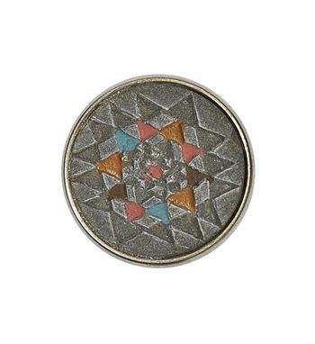 Noosa Amsterdam Pure chunk YANTRA. De Indische Yantra is een traditioneel teken voor evenwicht van de geest. De omhoog wijzende driehoek geeft energie en de omlaag wijzende driehoek staat voor kennis - NummerZestien.eu