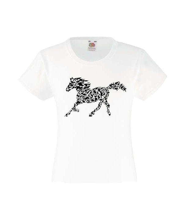 Lovas Lány Póló-Fehér