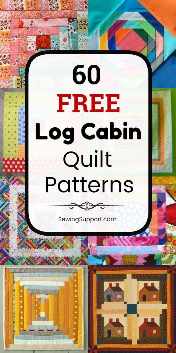 60 Free Log Cabin Quilt Patterns – #Cabin #Free #L…