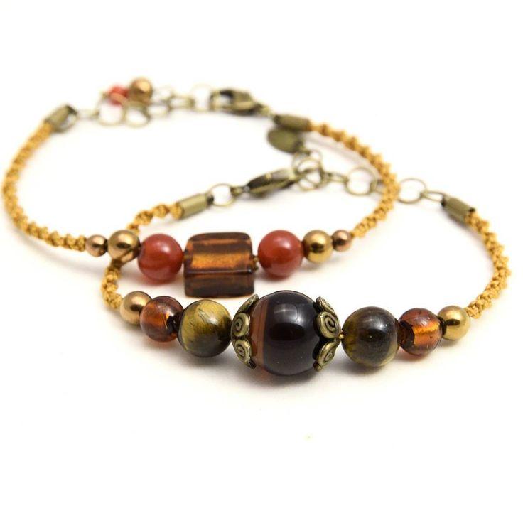 #CRMD #biżuteria #rękodzieło #bransoletka #naprezent #makrama #macrame #makrame #bracelet #macramejewelry #agathe #onyx #gemstones #jewellery #jewelry #jewels #bohojewelry #boho #vintagestyle #autumncolors