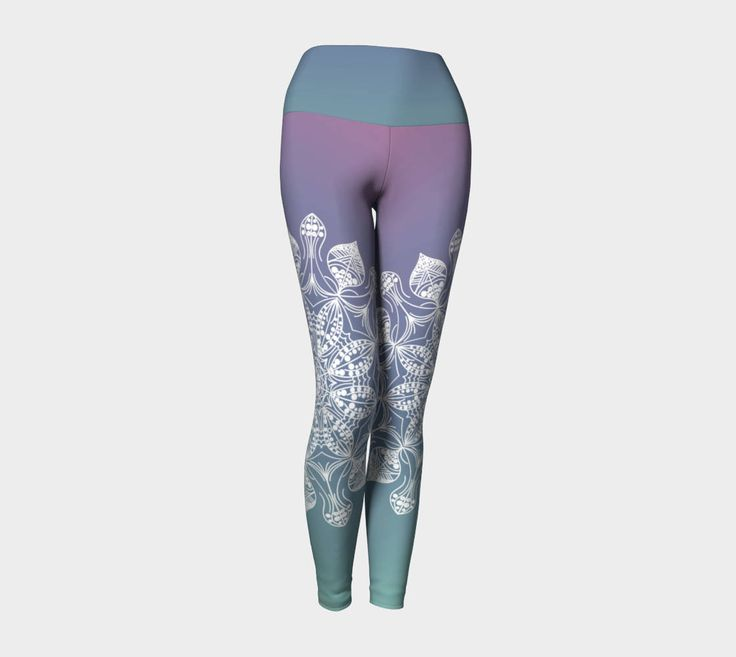 Mandala yoga leggings,yoga pants,yoga capris,leggings,activewear,women's leggings,workout leggings,yoga clothing,jog pants,gifts for her by OkopipiDesign on Etsy