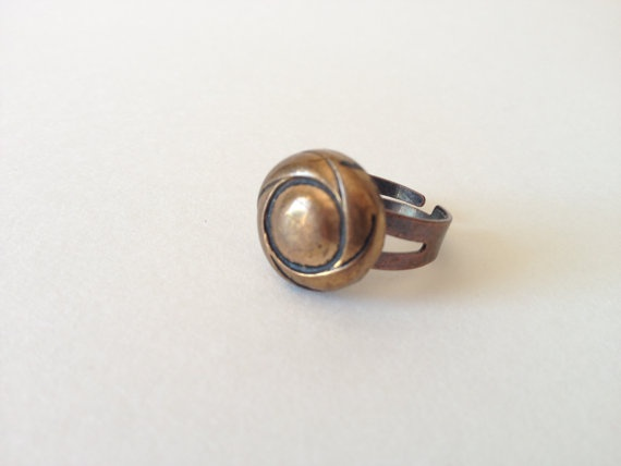 Memorial Day SALE - Copper ring - Patina Copper - Gender Neutral Ring - made with an adjustable band