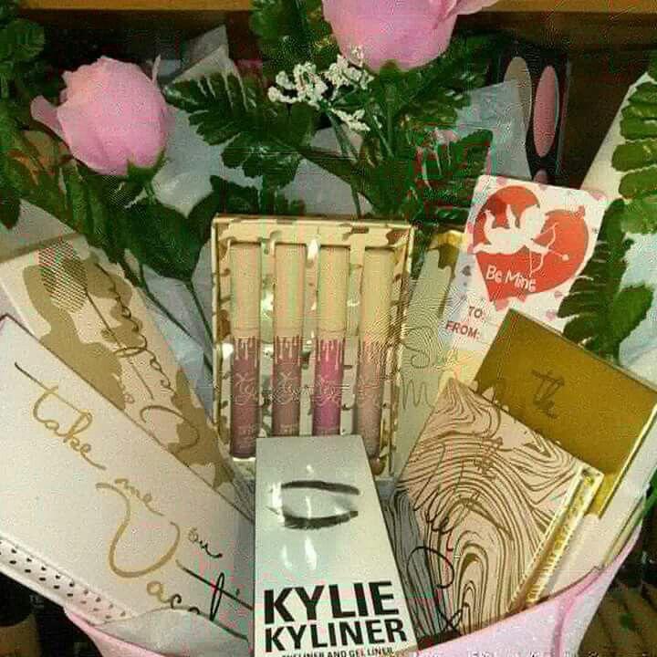 Makeup gift basket