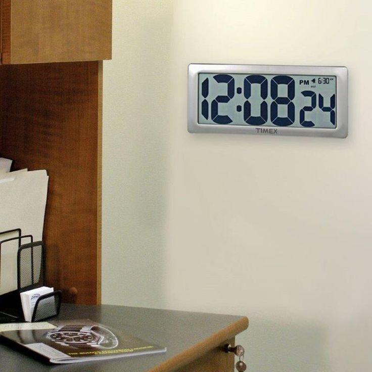 digital office wall clocks. brilliant wall jumbo lcd digital wall clock  clocks at hayneedle inside office d