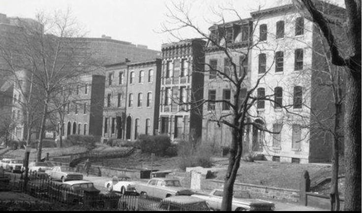 2200 block of green street near the Bergdoll Mansion in 1964 photo--you can see the Philadelphian Apartments in the background.