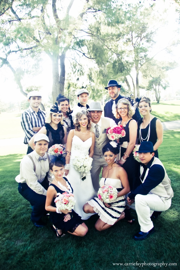 This was one of the coolest weddings I've ever seen.  The theme was the 1920's and they all dressed accordingly.