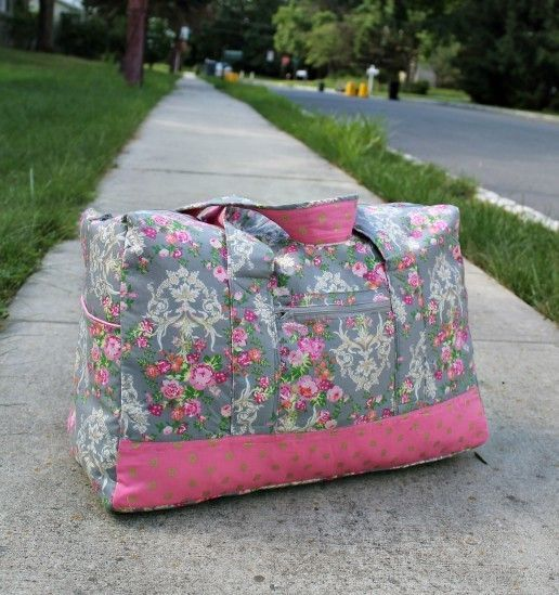Vera Bradley Inspired Carry-On Duffel Bag | Love Vera Bradley? Get the designer look for less with this sewing project!