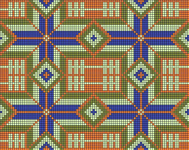 Орнамент перуанской сумки