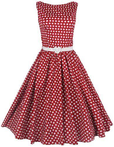 Lindy Bop Rockabilly Kleid 50er Jahre Audrey Hepburn,Pinup Tea Kleid. (44, Rot) Lindy Bop,http://www.amazon.de/dp/B00DEJY1JU/ref=cm_sw_r_pi_dp_Jf5Htb0A5CST89ZY
