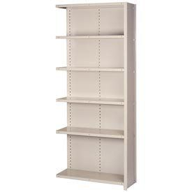 """Closed Shelving Add-On, 6 Heavy-Duty Shelves, 48""""Wx18""""Dx84""""H Putty by LYON WORKSPACE PRODUCTS. $265.95. Lyon Closed Shelving Add-On, 6 Heavy-Duty Shelves, 48""""Wx18""""Dx84""""H Putty All purpose standard and heavy duty storage."""