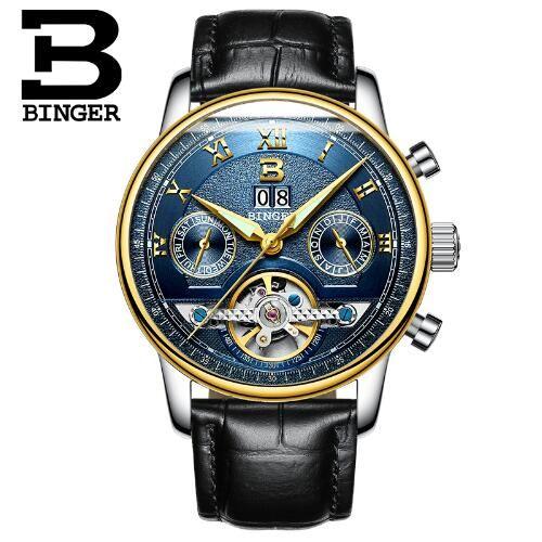 >> Click to Buy << Switzerland Binger Brand Men's Fashion Casual Sport Watches Men Waterproof Leather Watch Man military Clock Relogio Masculino #Affiliate