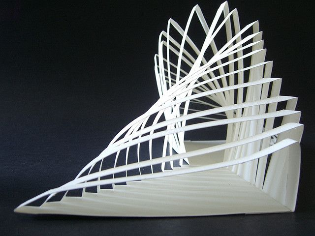 Origami architecture involves the three-dimensional reproduction of architecture, geometric patterns, everyday objects, or other images, on various scales, using cut-out and folded paper, usually t…