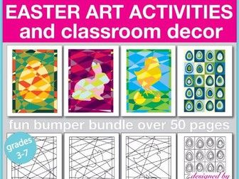 Bumper Easter art and craft creative activities and classroom decor pack