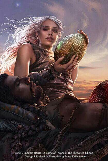 Daenerys and Khal Drogo by Magali Villeneuve
