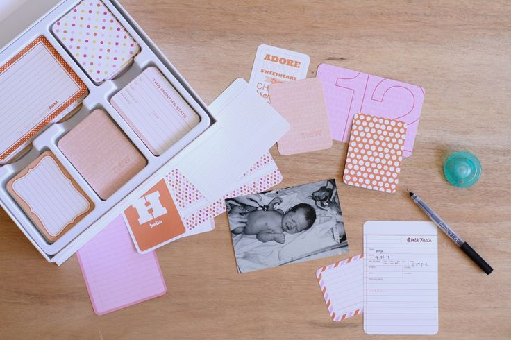 How to set up a baby photo album.  Tips and tricks, simple step-by-step directions to help you get your album completed without getting overwhelmed.