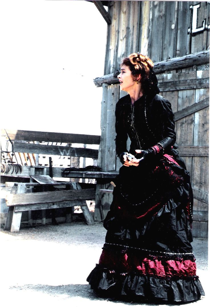 Tombstone.  Joanna Pakula as Kate in one of my designs.  #josephporrodesigns