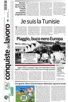 Prima pagina di Conquiste del 20 marzo 2015