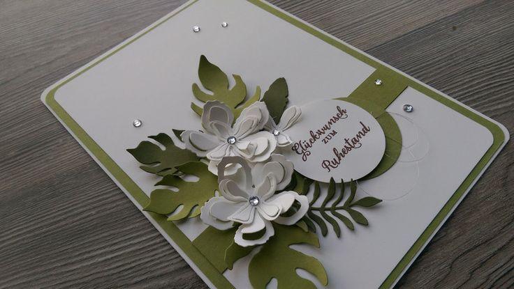 Danksagung - Karte zum Ruhestand, Rente, Jubiläum, NEU !!! - ein Designerstück von Mein-Kreativpoint bei DaWanda