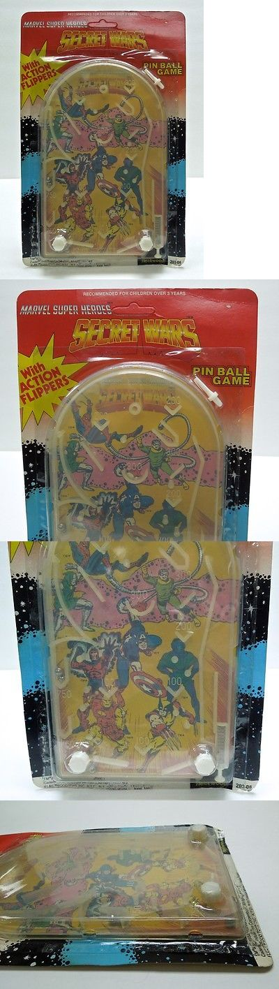 Character 723: 1984 Marvel Secret Wars Pin Ball Game Spider-Man Wolverine Sealed Very Rare -> BUY IT NOW ONLY: $74.99 on eBay!
