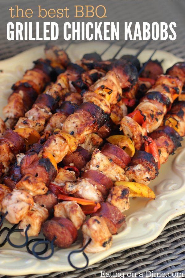 Easy grilling recipe - grilled chicken recipe -2 ingredient chicken kabob marinade to make the best grilled chicken kabobs that the entire family will love.