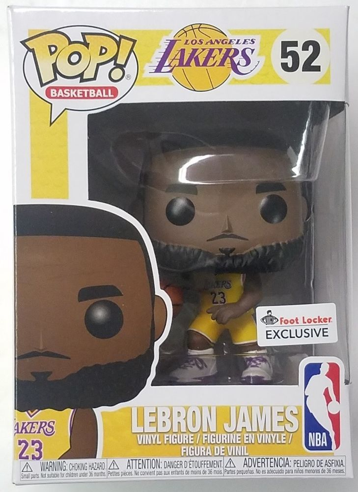 1ac54a372bc Foot Locker EXCLUSIVE Funko Pop LeBron James Lakers Yellow Jersey  52 NBA  Figure  afflink