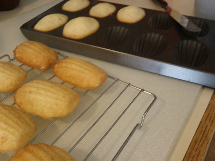 Lemon Madeline cookies. Recipe from Chef Laura Calder off of her French Food at Home Food network TV show