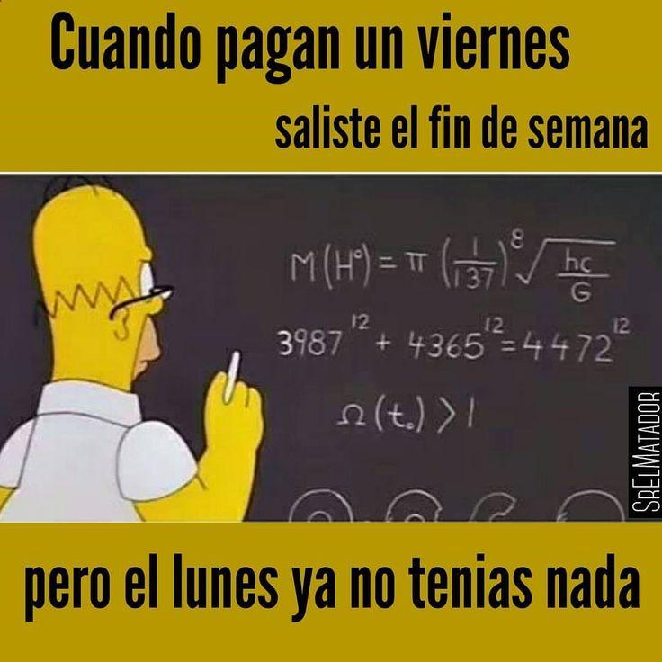 Suele pasar así como la semana pasada. Más que ya no te fían almuerzo dicen. - - #Quincena #Sueldo #Salario #Dinero #dieta #Homero #Homer #Cerveza #beer #amigos #bar #SrElMatador #ElSalvador #SV