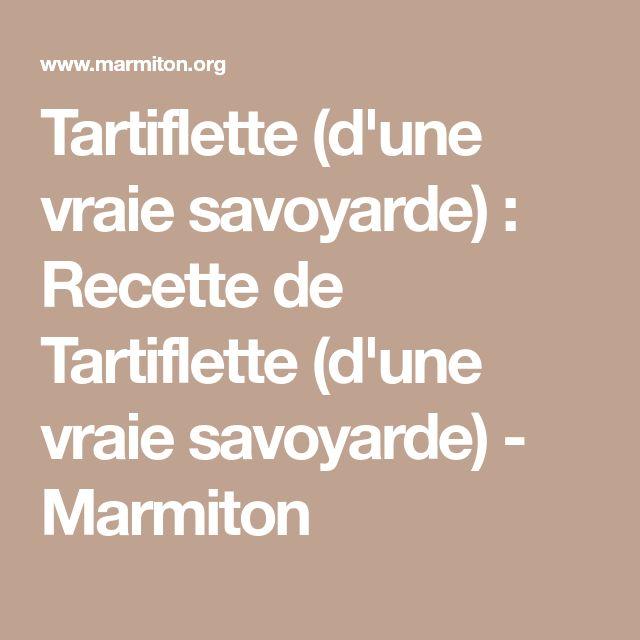 Tartiflette (d'une vraie savoyarde) : Recette de Tartiflette (d'une vraie savoyarde) - Marmiton