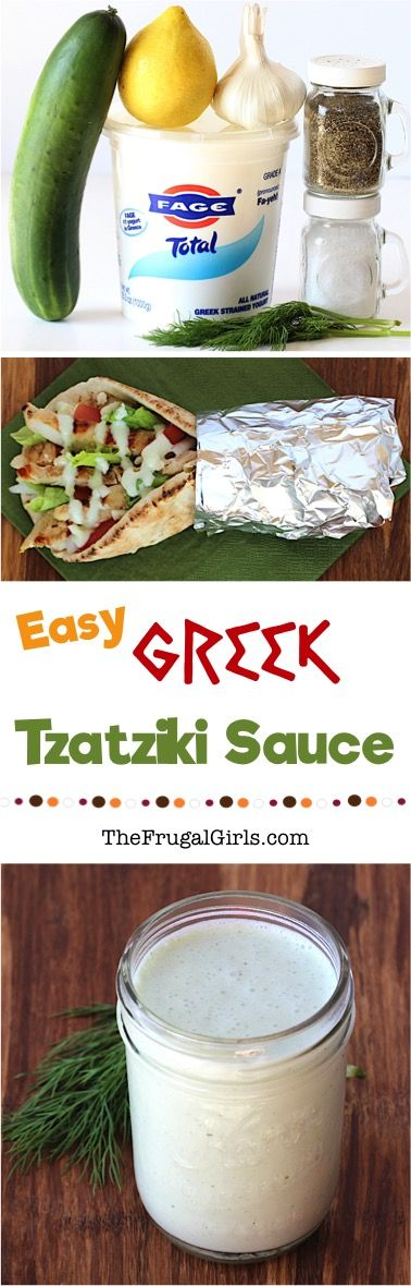 Greek Tzatziki Sauce Recipe from TheFrugalGirls.com