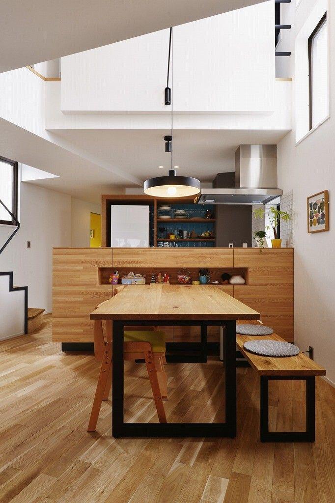 造作キッチンカウンター 遊び心とこだわりでワクワクがいっぱいの家 収納事例 Suvaco スバコ 造作キッチン ダイニング キッチンカウンター