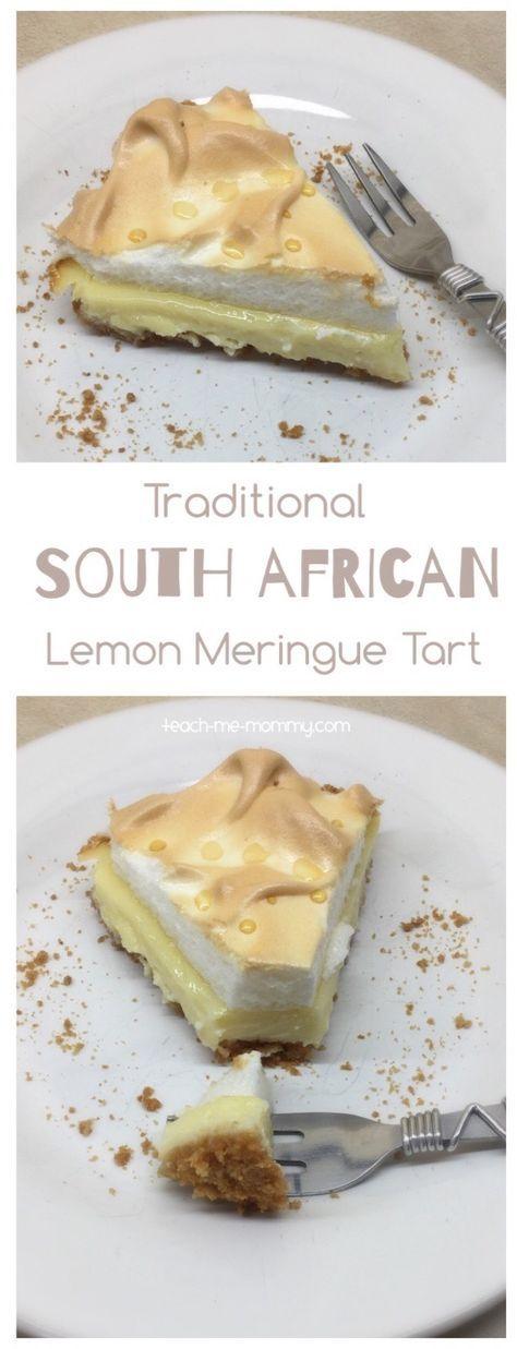 South African Lemon Meringue Tart A delicious, traditional South African tart- Lemon Meringue Tart!