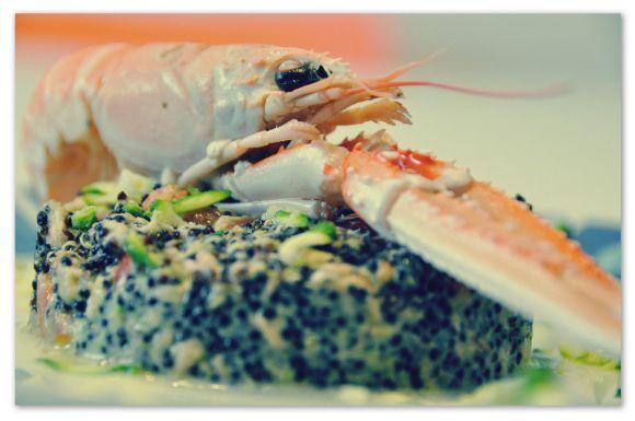 Quinoa Nera con pesto di zucchine #zucchine #Quinoa #light #fish #scampi #dieta #Benessere #shrimp #food #seafood