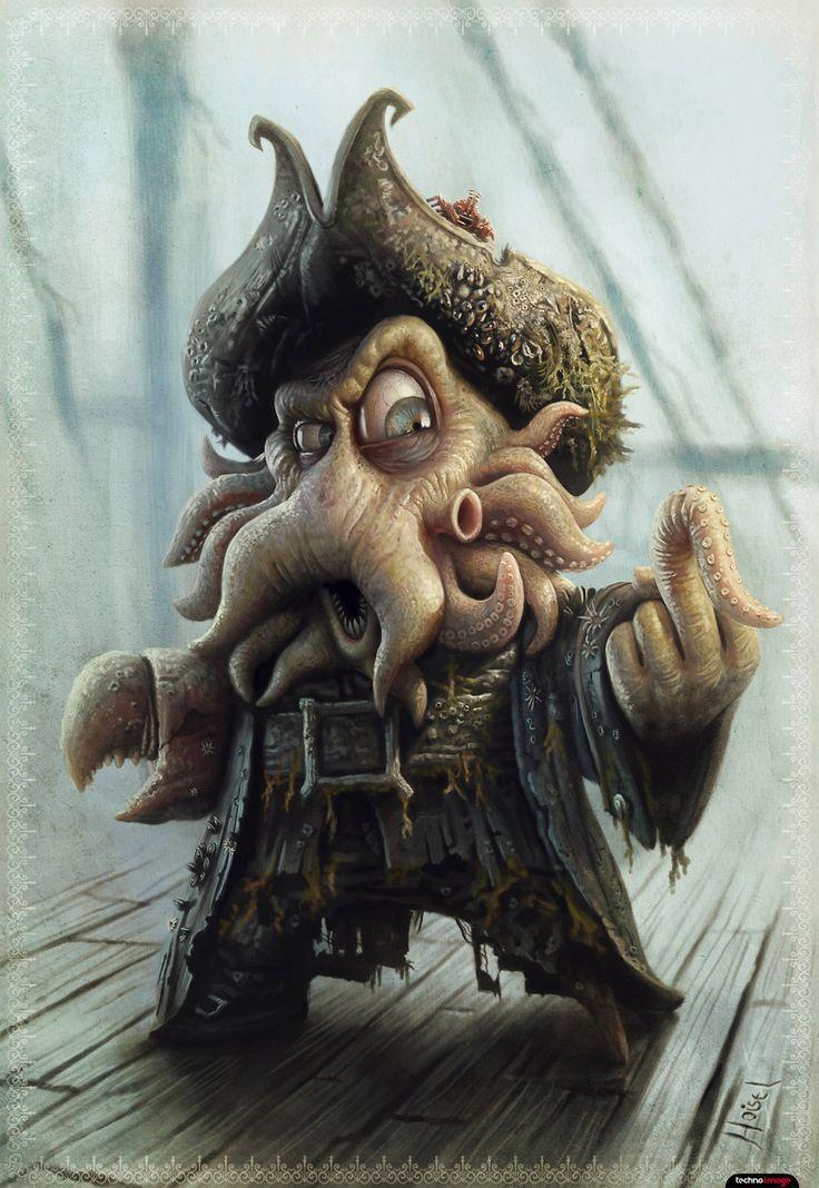 Caricaturas Techno Image Pirata desenho, Ilustração