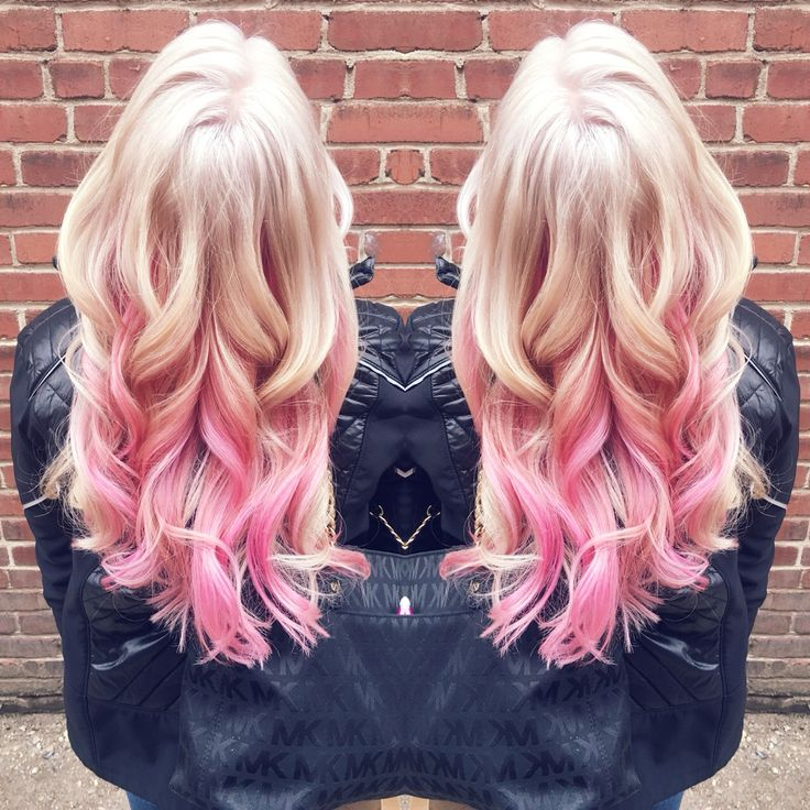 Platinum Blonde With Pink Highlights In Love Hair