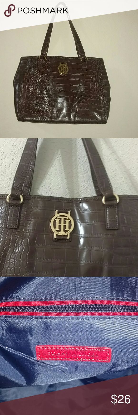 """Tommy Hilfiger Brown Purse Brown TH handbag. New w/out tags. Approx 14"""" wide by 10"""" high. Lots of inside space with center zippered pocket. Tommy Hilfiger Bags"""