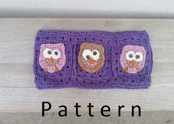Crochet pattern Owl neckwarmer/Scarf with woman $5.00 USD