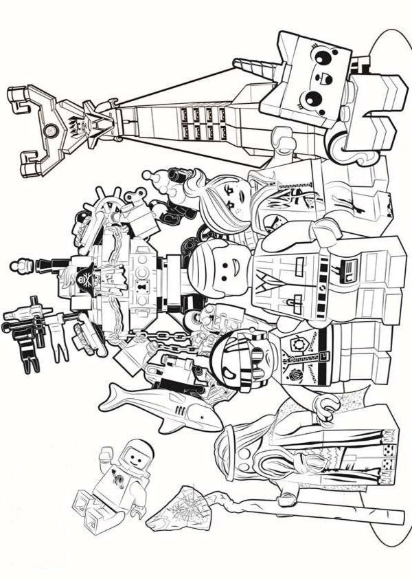 Printable Coloring Pages of LEGO Movie