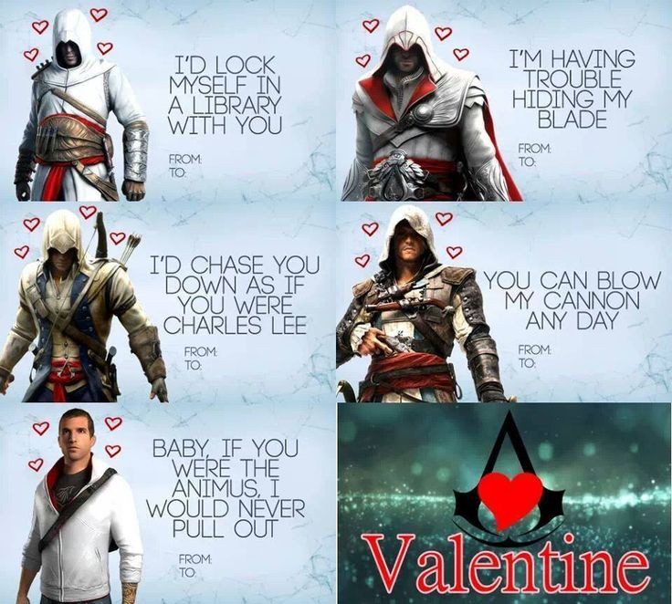 Assassin's Creed Valentine Cards
