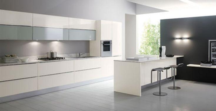 Cocinas blancas y modernas inspiraci n de dise o de for Diseno de interiores de cocinas pequenas modernas