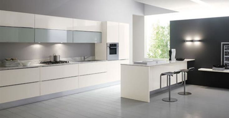 Cocinas blancas y modernas inspiraci n de dise o de - Fotos de cocinas de diseno ...