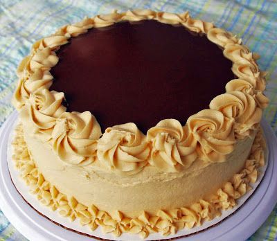 4 goodness bake!: Dark chocolate cake with peanut butter cream cheese frosting