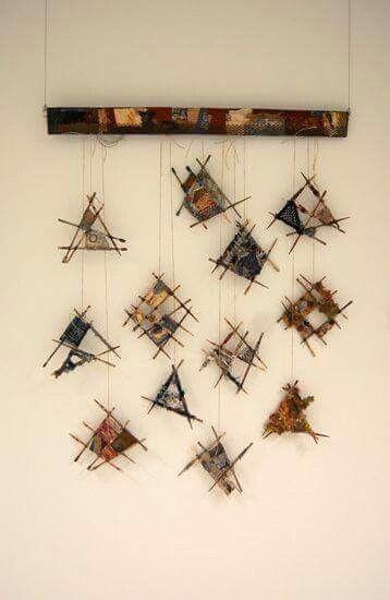 """Scrapcatchers"" by Joanne Young Textiele kunst"
