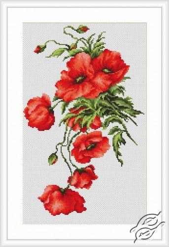 Poppies - Cross Stitch Kits by Luca-S - B2236