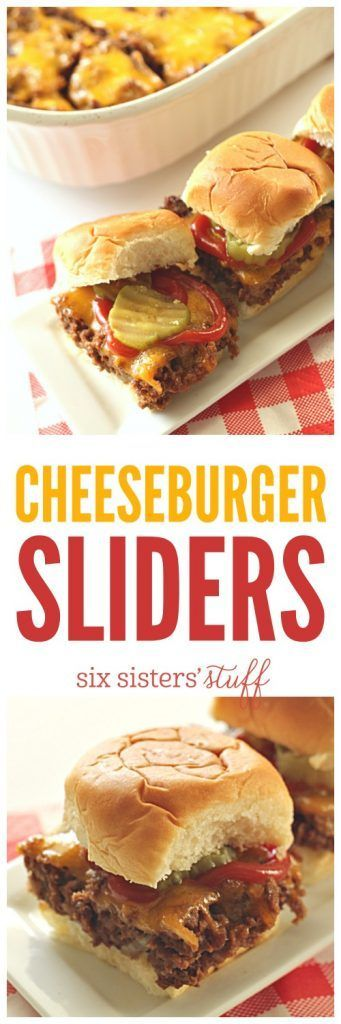 Baked Cheeseburger Sliders from SixSistersStuff.com